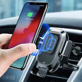 Baseus Inteligentny czujnik podczerwieni Auto Lock 10W Qi Bezprzewodowa ładowarka samochodowa Uchwyt do iPhone XS MAX S9