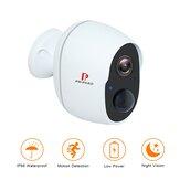 Pripaso 1080P Inalámbrico Batería CCTV IP alimentado Cámara al aire libre Hogar para interiores Impermeable Seguridad recargable Wifi Batería Cámara