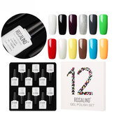 ROSALIND 12pcs 10ML Soak Off Salon UV Chiodo Gel polacco Chiodo A