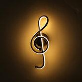 85-265V 12W moderne væg LED-lys lampe musik note form indendørs skulptur veranda soveværelse stue