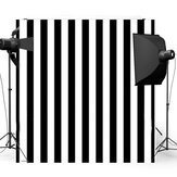 8x8FT Noir White Stripes Wall Photographie Studio Fond de fond de vinyle
