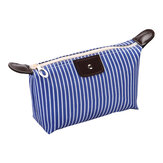 IPRee® Striped Dumpling Women Cosmetic Bag Folding Travel Waterproof Makeup Wash Bag Storage Pouch