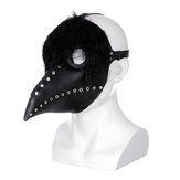 The Plague Doctor Mask Black Latex Gothic Steampunk Bec d'oiseau