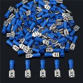 16-14AWG Isolerende Vrouwelijke Spade Terminal Elektrische Crimp Wire Connectors Blauw