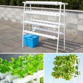 4 Layer 72 Holes Vertical Hydroponic Piping Site Grow Kit DWC Deep Water Culture Vegetable Planting System