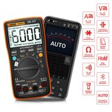 ANENG AN9002 Цифровой bluetooth True RMS Мультиметр 6000 отсчетов Professional Auto Multimetro AC / DC Current Voltage Tester оранжевый