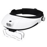 Abnehmbare Kopfbandlupe Verstellbares Fernglas für Ferngläser mit LED