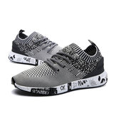 Unisex Running Shoes Lightweight Anti-Slip Lace Up Breathable Sneakers Sports Walking Climbing Casual Mesh Shoes