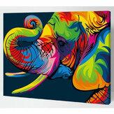 Kolorowy zestaw numerów słonia Obraz olejny zestaw według numeru DIY Pigment Painting Art Hand Craft Materiały narzędziowe