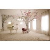 5x3FT 1.5x1m Indoor Piano Tree Scenery Fotografie Achtergrond Foto Voor Studio