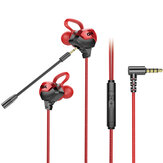 Bakeey G3000 Wired Earphone HIFI Stereo Noise Reduction Dynamic In-ear Earbuds 3.5mm Gaming Headset with Mic