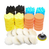 51Pcs 80mm Buffing Polishing Pad Buffer Kit For Electric Auto Polishers