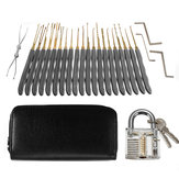 DANIU 26Pcs Padlock Locksmith Training Starter Practice Kit Lock Unlocking Pick Tool
