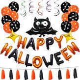 1 Satz Happy Halloween Dekorationen Bat Ballon Party Hanging Letter Ballons Prop