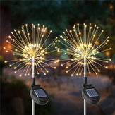 2 STKS Zonne-energie 105LED Starburst Vuurwerk Fairy String Landschap Licht Kerst Outdoor Decor