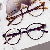 Kadın Erkek Temizle Lens Gözlükler Vintage Yuvarlak Çerçeve Matal Retro Düz Okuma Gözlükler