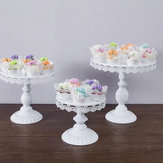 ホワイトラウンドケーキカップケーキスタンドモダンデザートウェディング誕生日パーティーイベントの装飾
