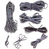 1m-50m cabo de extensão de 5 pinos cabo de linha Fio para 3528/5050 RGBW LED luz de tira