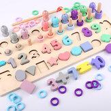 4-w-1 cyfrowy kształt deski do połowu ryb Wczesna edukacja Rozwój intelektualny dzieci Zabawka Puzzle dla dzieci Bloki Zabawki