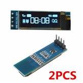 2個Geekcreit 0.91インチ128x32 IIC I2C青いOLED LCDディスプレイDIY OledモジュールSSD1306ドライバーIC DC 3.3V 5V