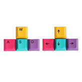 4Pcs a Set CMYK Color Profilo OEM PBT Dyesub Keycaps WASD Arrow Key Direction Keycap Set