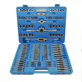 110Pcs Metric Tap And Die Metric Tapping Threading Chasing Tap and Die Set with Storage Case
