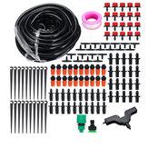 DIY 15 M Micro Irrigação Por Gotejamento Sistema de Irrigação Por Gotejamento de Água Kit DIY para Canteiros de Flores Hortaliças