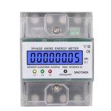 SINOTIMER DDS024T Din Rail 380V 80A 3 Phase 4 Wire Electronic Watt Power Energy Meter Wattmeter kWh LCD-achtergrondverlichting met transparante afdekking