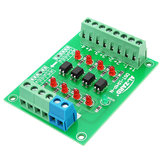 5Pcs 24V To 5V 4 Channel Optocoupler Isolation Board Isolated Module PLC Signal Level Voltage Converter Board 4Bit
