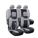 11Pcs Grey Car Seat Covers Protectors Universal Breathable Full Set Front