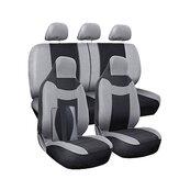 11pcs assento de carro cinza cobre protetores conjunto completo respirável universal frente