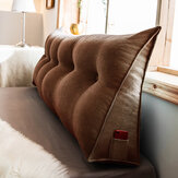Sofa Bed Large Filled Triangular Wedge Cushion Bed Backrest Positioning Support Pillow Reading Pillow Office Lumbar Pad with Removable Cover