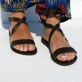 US Size 5-12 Roman Cross Beach Buckle Flat Sandals
