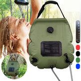 20L Portable Solar Heated Shower Water Bathing Bag Outdoor Camping Hiking Water Bag With Temperature Display Outdoor Shower Accessories
