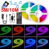 5 / 10M 12V LEDストリップライト5050 RGBカラー変更Bluetoothアプリリモートミュージックスマートストリップ