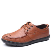 Microfiber Pure Color Casual Soft Business Leather Loafers