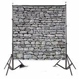 8x8ft hellgrau Steinmauer Fotografie Hintergrund Studio Prop Hintergrund