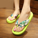 Bohemia Flip Flops Breathable Silk Slippers
