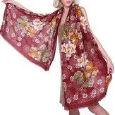 Écharpe à imprimé floral style ethnique élégant pour femmes