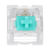Feker 110 Pcs Mechanical Switches Milk Green Switch Transparent PC Top Housing 3Pin Linear Switch for Mechanical Gaming Keyboard