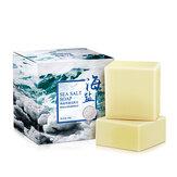 100g Rimozione Brufolo Poro Acne Trattamento Sale marino Sapone Detergente Latte di capra idratante Sapone Base per lavaggio cura del viso Sapone