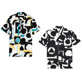 Men's Casual Short Sleeve Printed Party Button Down Shirts Summer Tee Hiking Walking Holiday