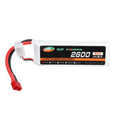 XF POWER 7.4V 2600mAh 60C 2S Lipo Bateria T Plug para Wltoys 1/14 144001 RC Car Upgrade Parts
