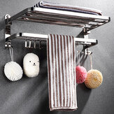 Bakeey  Stainless Steel Perforated Towel Rack Double Shelf Strong Bearing Capacity For Home Hotel