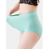 Plus Size Seamless Plain High Waisted Full Hip Smooth Panty