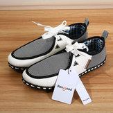 Banggoodmenlaceshoesmoda zapatillas de cuero