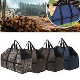 210D Oxford tissu sac de transport de bois de chauffage support en bois sac de rangement fourre-tout organisateur Camping en plein air pique-nique barbecue
