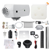 12V 8KW Diesel Air Heater Kit with LCD Switch Remote Control Silencer 10L Tank White