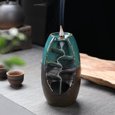 Porcelain Backflow Ceramic Cone Incense Burner Holder Buddhist Censer