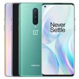 OnePlus 8 5G Global Rom 6.55 inci FHD + 90Hz Refresh Rate NFC Android 10 4300mAh 48MP Kamera Belakang Tiga 8GB 128GB Snapdragon865 Smartphone